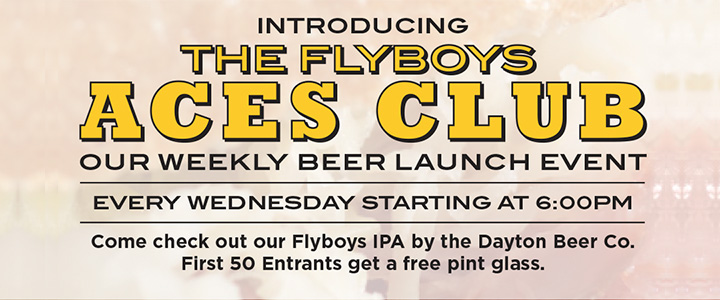 Flyboys Aces Club - Weekly Beer Launch Event